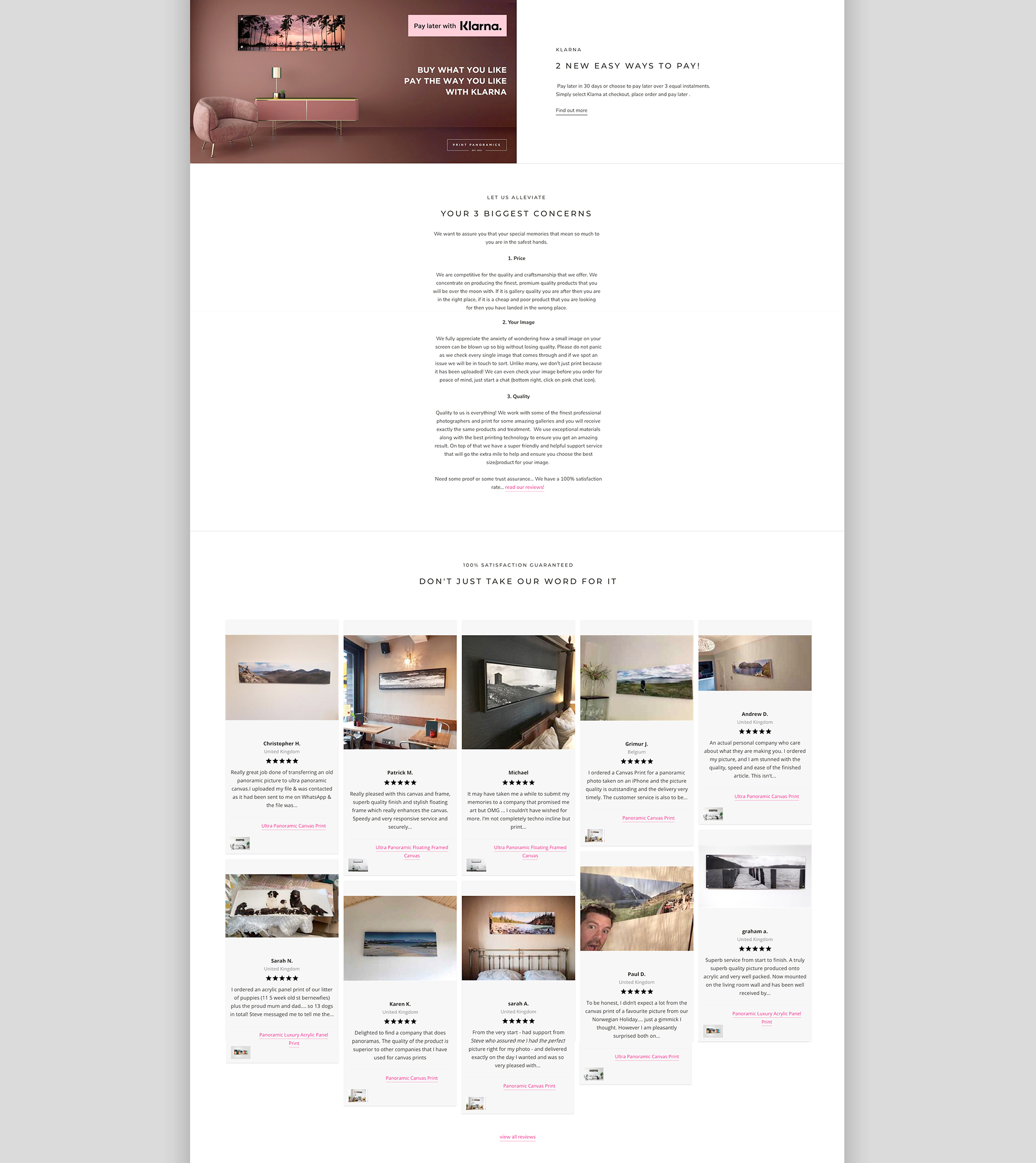 Print Panoramics website
